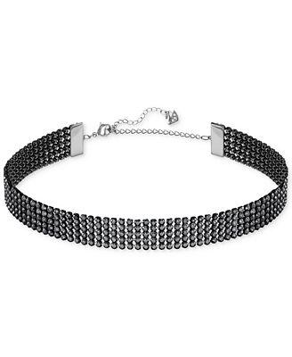Swarovski Silver-Tone Crystal Choker Necklace