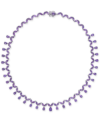 Amethyst All-Around Statement Necklace (28-3/4 ct. t.w.) in Sterling Silver