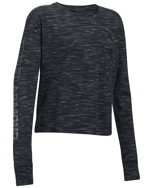 Under Armour Cropped T-Shirt, Big Girls