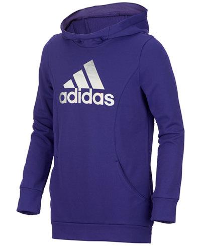 adidas Performance Hooded Sweatshirt, Big Girls