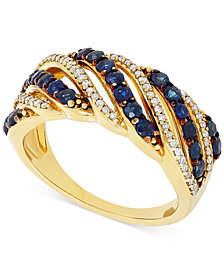 Sapphire (1 ct. t.w.) & Diamond (1/5 ct. t.w.) Ring in 14k Gold