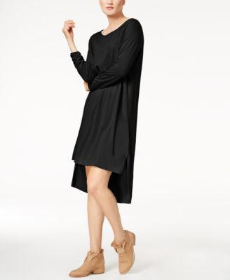 Kensie Flutter Sleeve Draped French Terry Dress Dresses