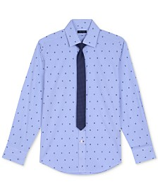 Tommy Hilfiger 2-Pc. Shirt & Tie Set, Big Boys