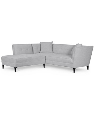 Camilia 2-Pc. Fabric Modular Sectional with Chaise, Created for Macy's