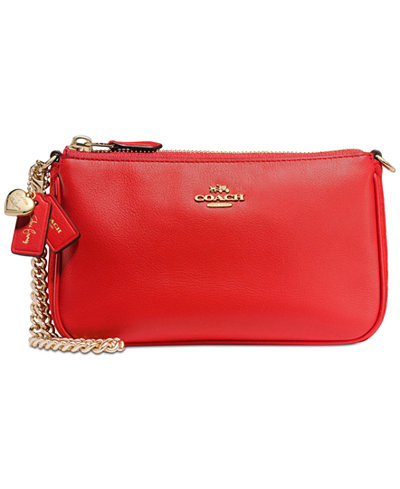 COACH Selena Gomez Wristlet 19 In Mixed Leathers