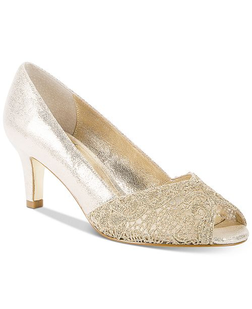 b1430cc7859 Adrianna Papell Jude Lace Peep-Toe Pumps & Reviews - Pumps - Shoes ...