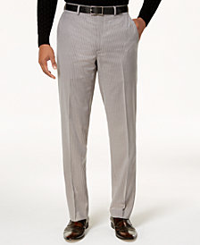 Sean John Men's Classic-Fit Stretch Gray Pinstripe Suit Pants