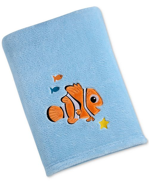 Disney Finding Nemo Embroidered Appliqué Plush Blanket