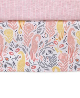 Boheme  100% Cotton Percale Graphic-Print Crib Skirt