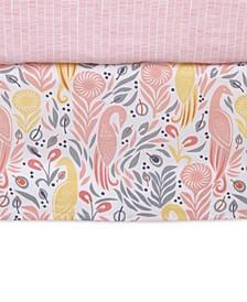 DwellStudio Boheme  100% Cotton Percale Graphic-Print Crib Skirt