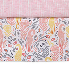 DwellStudio Boheme  100% Cotton Percale Graphic-Print Crib Skirt