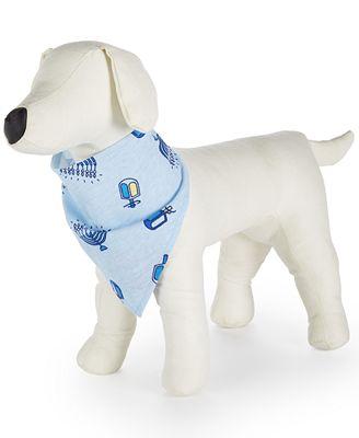 Family Pajamas Dreidel-Print Hanukkah Dog Bandana, Created for Macy's