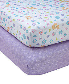 Little Love by NoJo Adorable Orchard 2-Pc. Fitted Crib Sheet Set