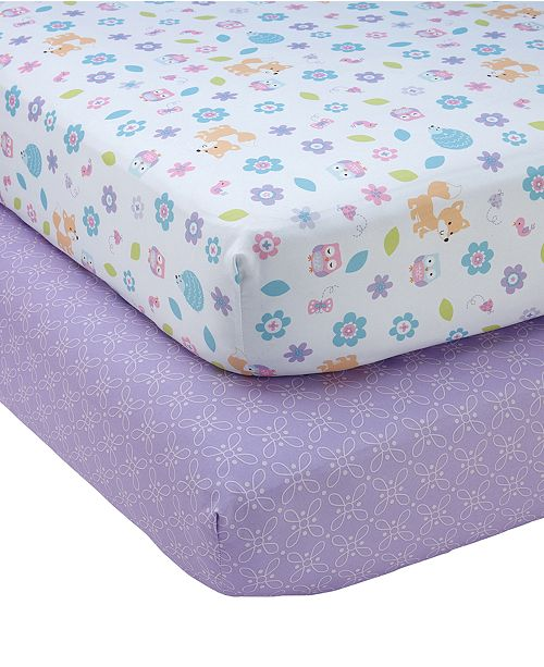 NoJo Adorable Orchard Crib Sheet 2-Pack