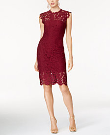 Rachel Zoe Cap-Sleeve Lace Dress