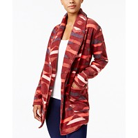 Columbia Benton Springs Printed Open-Front Fleece Cardigan (Bllodstone Southwest Print)