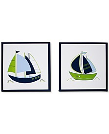 Zachary 2-Pc. Sailboat-Print Canvas Wall Art Set