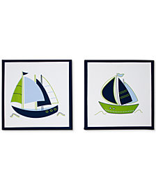 Nautica Zachary 2-Pc. Sailboat-Print Canvas Wall Art Set