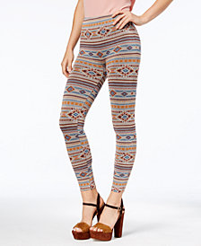 First Looks Women's Geo-Print Stripe Seamless Leggings, Created for Macy's