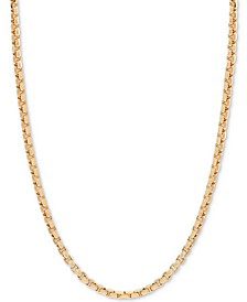 "18"" Round Box Link Chain Necklace (1-1/2 mm) in 14k Gold"
