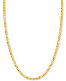 """24"""" Franco Chain Necklace in 14k Gold"""