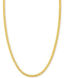 "24"" Franco Chain Necklace in 14k Gold"