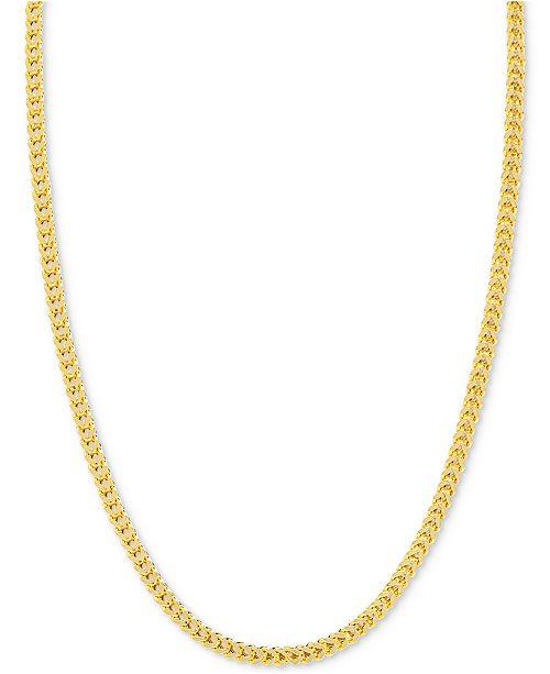"Macy's 24"" Franco Chain Necklace in 14k Gold"