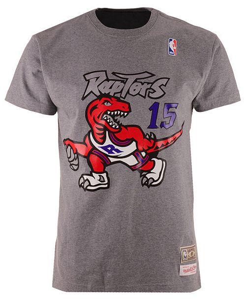 319ed283 Mitchell & Ness Men's Vince Carter Toronto Raptors Hardwood Classic Player T -Shirt ...