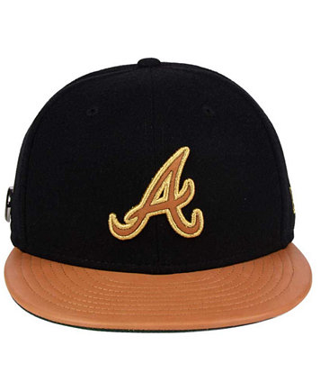 timeless design 3d07a 5b932 ... hat 5f1ef buy image 2 of new era atlanta braves x wilson metallic  59fifty fitted cap 21bb8 35883 new arrivals shop mlb ...
