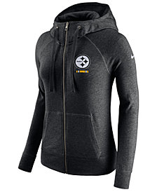 Nike Women's Pittsburgh Steelers Gym Vintage Full-Zip Hoodie