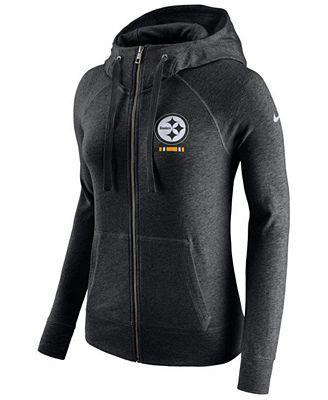 Nike Women's Pittsburgh Steelers Gym Vintage Full-Zip Hoodie
