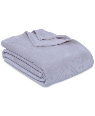 VelvetLoft Airblown Diamond Plush Twin Blanket