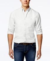 Tommy Hilfiger Men s Custom Fit New England Solid Oxford Shirt 4f15a27b42f7a