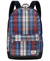 Tommy Hilfiger Men's Plaid Alexander Backpack Messenger Bag