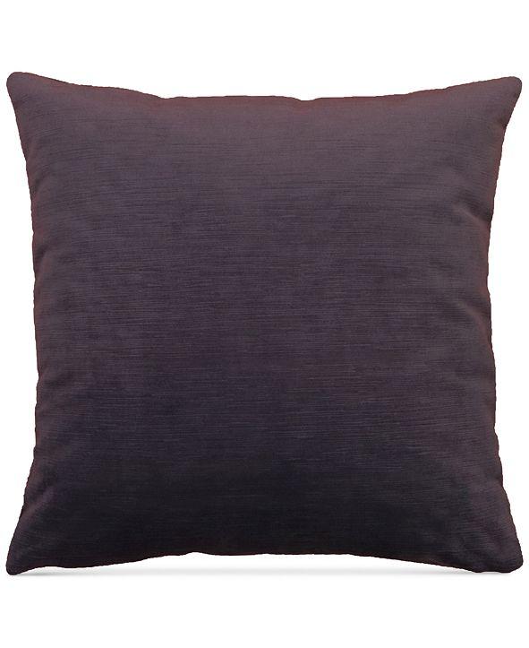 "Hallmart Collectibles LAST ACT! Purple Textured Velvet 20"" Square Decorative Pillow"