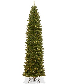 9' North Valley Spruce Pencil Slim Tree With 550 Clear Lights