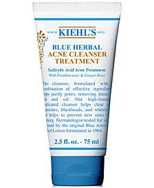 Kiehl's Since 1851 Blue Herbal Acne Cleanser Treatment, 2.5-oz.