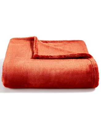 CLOSEOUT! Charter Club Cozy Plush Throw, Created for Macy's - Blankets & Throws - Bed & Bath - Macy's