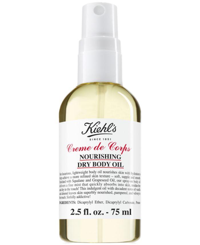 Kiehl's Since 1851 Creme de Corps Nourishing Dry Body Oil, 2.5-oz. & Reviews - Shop All Brands - Beauty - Macy's