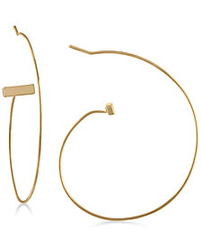 RACHEL Rachel Roy Gold-Tone Open Hoop Earrings
