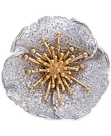 Two-Tone Hibiscus Flower Statement Ring, Created for Macy's
