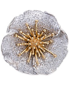 Giani Bernini Two-Tone Hibiscus Flower Statement Ring, Created for Macy's