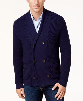 Tasso Elba Men's Double-Breasted Cardigan, Created for Macy's ...