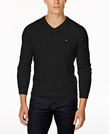 Men's Signature Solid V-Neck Sweater, Created for Macy's