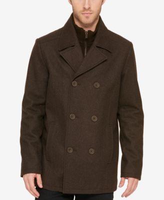 Pea Coat with Straps