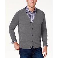 Weatherproof Vintage Men's Textured Cardigan (Gray / Blue)