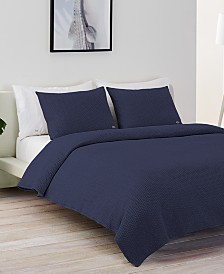 Lacoste Home Cotton Chevron Quilted Twin Coverlet