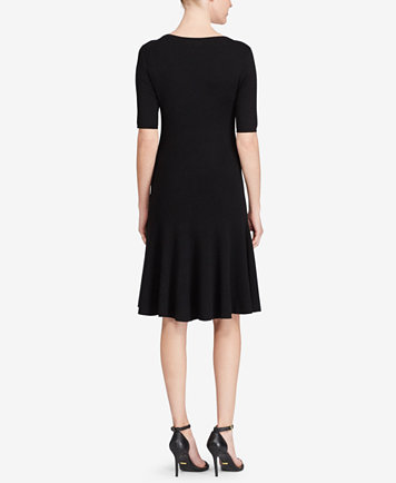 Lauren Ralph Lauren Fit Amp Flare Sweater Dress Dresses