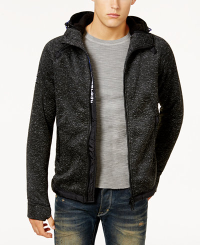 Superdry Men's Hooded Sweater-Jacket - Sweaters - Men - Macy's