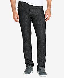 WILLIAM RAST Men's Dean Black Raw Wash Slim Fit Stretch Jeans